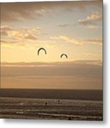 Kites At Sunset Metal Print by Dave Woodbridge