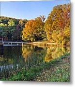 Lake At Chilhowee Metal Print by Debra and Dave Vanderlaan