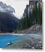 Lake Louise North Shore - Canada Rockies Metal Print by Daniel Hagerman