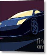 Lamborghini Murcielago - Pop Art Metal Print by Pixel  Chimp