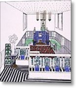 Large Balconied Reception Room Metal Print