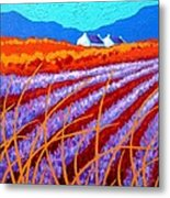 Lavender Meadow Metal Print