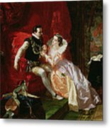 Leicester And Amy Robsart At Cumnor Metal Print by Edward Matthew Ward