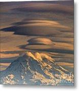 Lenticular Rainier Metal Print by Chris Anderson