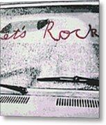 Lets Rock Metal Print