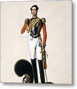 Lieutenant Thomas Myddleton Biddulph Metal Print by Alexandre-Jean Dubois Drahonet