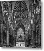 Lincoln Cathedral Nave Metal Print by Ian Barber