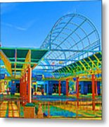 Lines In Colors Metal Print by Wendy J St Christopher