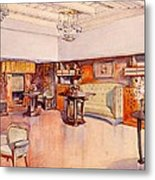 Living Room, 1905 Metal Print by Alfred Grenander