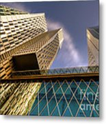 Lofty Heights - Cracked Shapes Metal Print