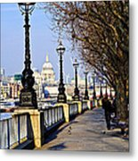 London View From South Bank Metal Print