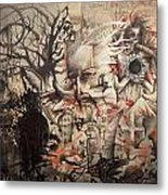 Lost In The Dark Metal Print by Henry Keller