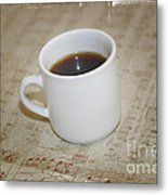 Love Coffee And Music Metal Print