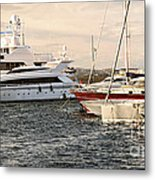 Luxury Boats At St.tropez Metal Print by Elena Elisseeva