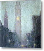 Madison Avenue At Twilight Metal Print