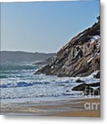 Maine Surfing Scene Metal Print