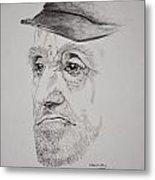 Man In Cap Metal Print by Glenn Calloway