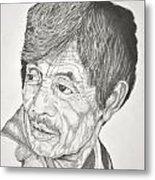 Man Looking Back Metal Print by Glenn Calloway