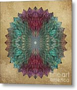 Mandala Crystal Metal Print by Filippo B