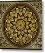 Mandala Earth Shell Sp Metal Print by Bedros Awak