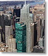 Manhattan Bryant Park Aerial Metal Print by Jannis Werner