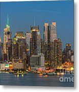 Manhattan Twilight IIi Metal Print by Clarence Holmes