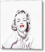 Marilyn Monroe Metal Print by Martin Howard