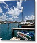 Marina St Thomas Virgin Islands Metal Print by Amy Cicconi