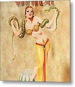 Mata Hari Vintage Wine Ad Metal Print