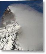 Matterhorn Peak Shrouded In Clouds Metal Print by Jetson Nguyen