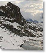 Matterhorn Shrouded In Clouds Metal Print by Jetson Nguyen