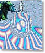 Meditating On Ganesh Metal Print by Jason Saunders