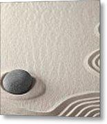 Meditation Stone Zen Rock Garden Metal Print by Dirk Ercken
