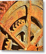 Meshing Gears Metal Print by Phyllis Denton