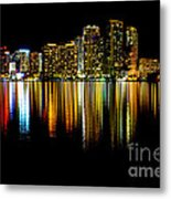 Miami Skyline II High Res Metal Print