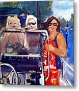 Michigan Boaters Metal Print by Sandra Stone