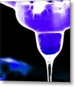 Midnight Blue Margarita Breeze Metal Print