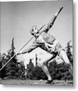 Mildred Babe Didrikson Holding A Javelin Metal Print