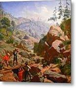 Miners In The Sierras Metal Print