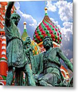 Minin And Pozharsky Monument In Moscow Metal Print by Oleksiy Maksymenko