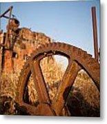 Mining Artefacts Historical Antique Machinery Metal Print by Dirk Ercken