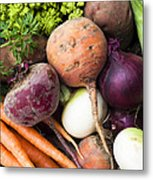 Mixed Veg Metal Print