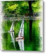 Model Boat Basin Central Park Metal Print