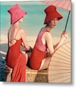 Models At A Beach Metal Print by Louise Dahl-Wolfe
