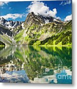 Mointain And Lake Metal Print by Boon Mee