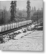 Montana Train Metal Print by Paul Bartoszek