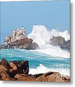Monterey Bay Waves Metal Print by Artist and Photographer Laura Wrede
