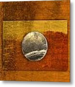 Moon On Gold Metal Print