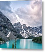 Moraine Cloud Burst Metal Print by Jon Glaser