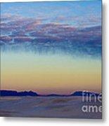 Morning Begins In White Sands Metal Print by Sandra Bronstein